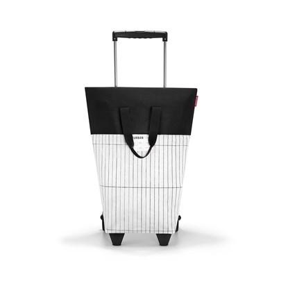 #urban trolley - velká taška na kolečkách - london black & white_1