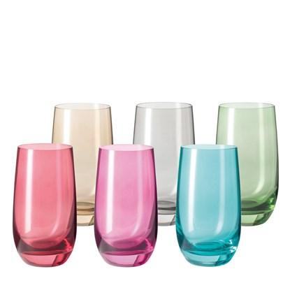 Skleničky SORA 390 ml SET/6 barev_0