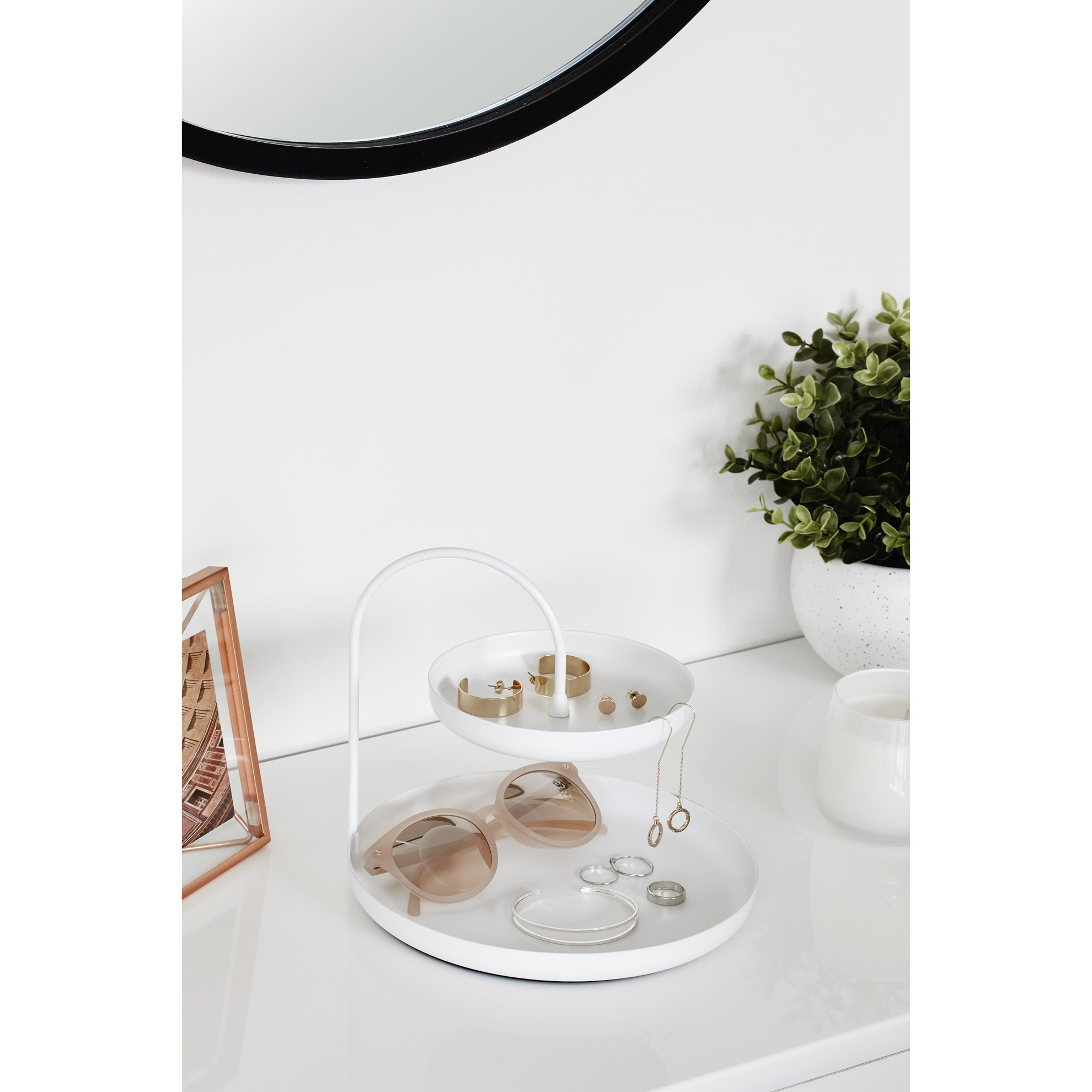Šperkovnice POISE 18 cm bílá_0