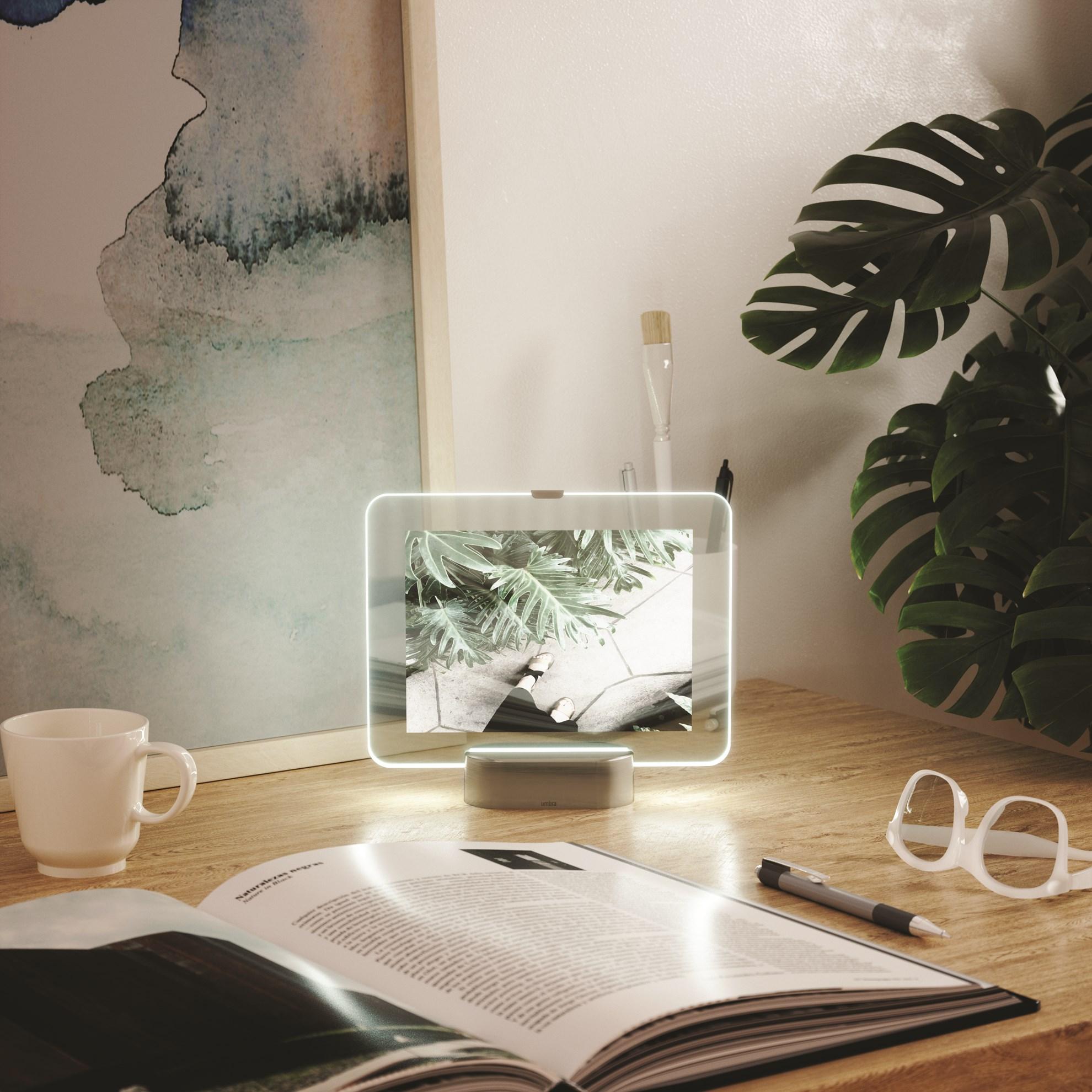 LED fotorámeček GLO 10x15 cm nikl_0