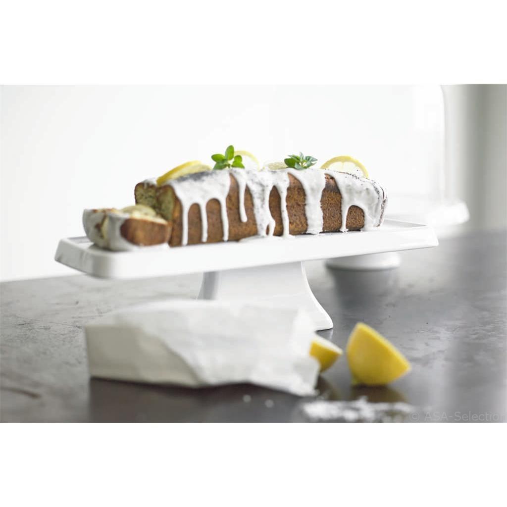 Podnos na dort hranatý 38 cm bílý_0