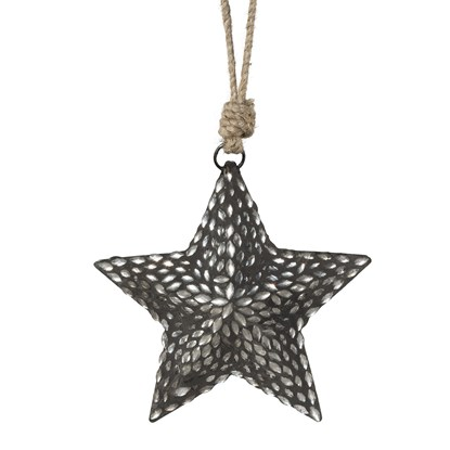 Kovová závěsná hvězda s mozaikou_0