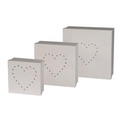 Geschenkbox quadratisch m.LED 3er Set He_1