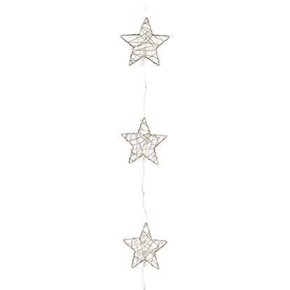 Draht Stern x 5 Girlande m. 10 LED_0