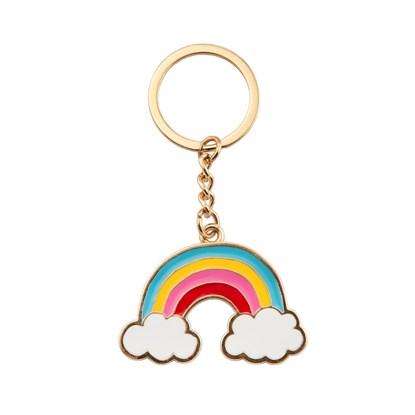 Přívěsek na klíče Rainbow with clouds_0