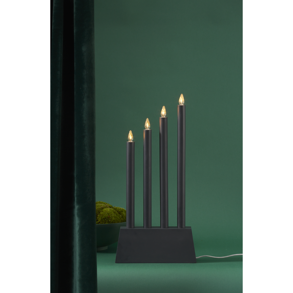 LED-okenní svícen QUATTRO 55 cm černý_1