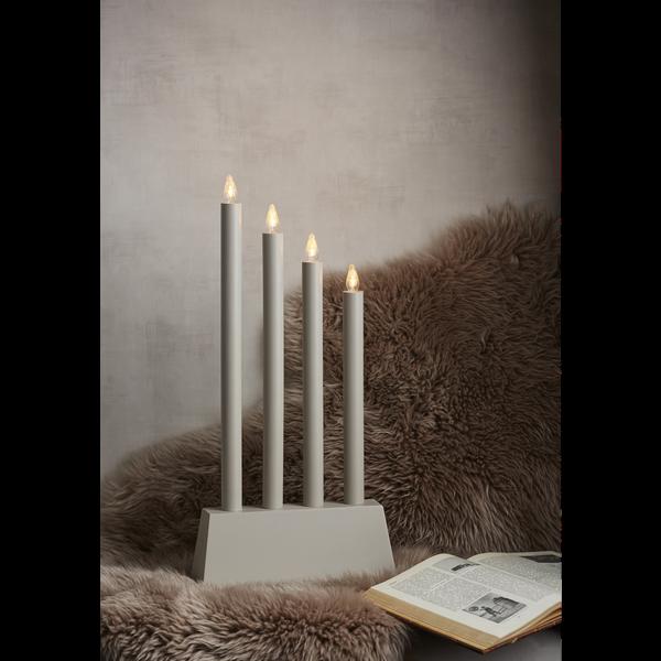 LED-okenní svícen QUATTRO 55 cm šedý_0