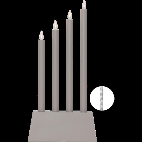LED-okenní svícen QUATTRO 55 cm šedý_2