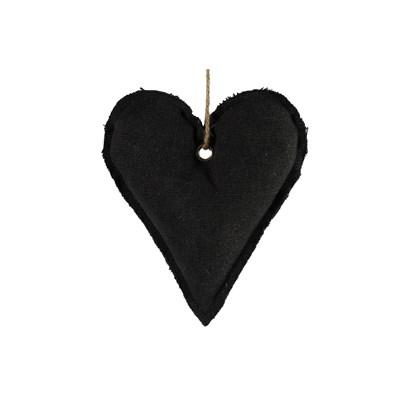 Ozdoba srdce Dela S černá_0