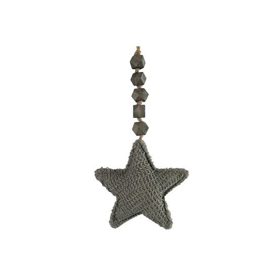 Ozdoba hvězda Else S šedá_0