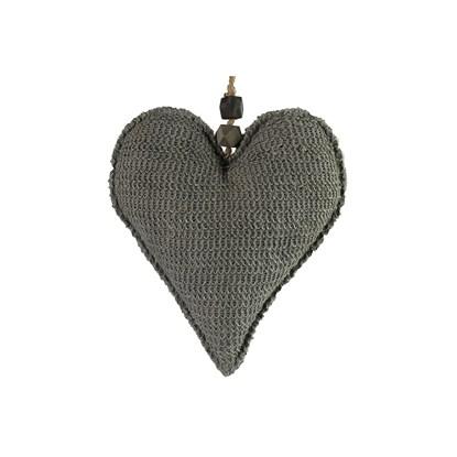 Ozdoba srdce Gitroy L šedá_0