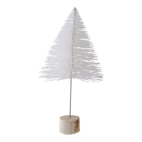 Dekorační strom 31 cm bílý_0