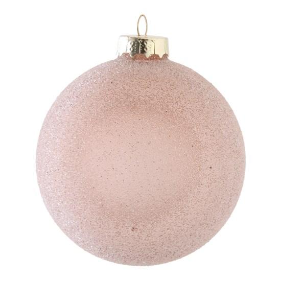 Vánoční ozdoba 10 cm růžová_0