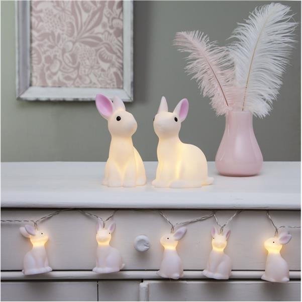 LED-světelná dekorace zajíček 10 světel_1