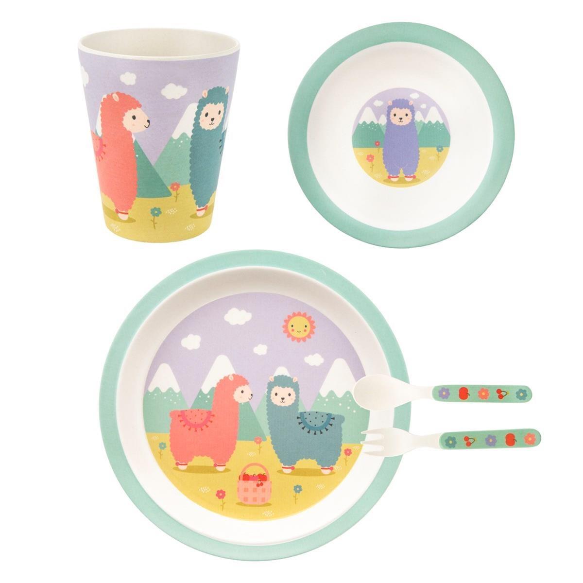 Dětský jídelní SET Little Llama_6