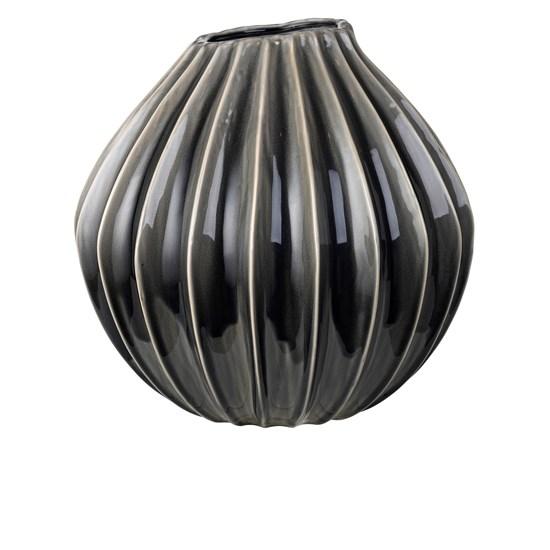 Váza WIDE 40 cm kouřová_0