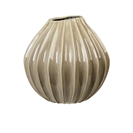 Váza WIDE 40 cm šedohnědá_0