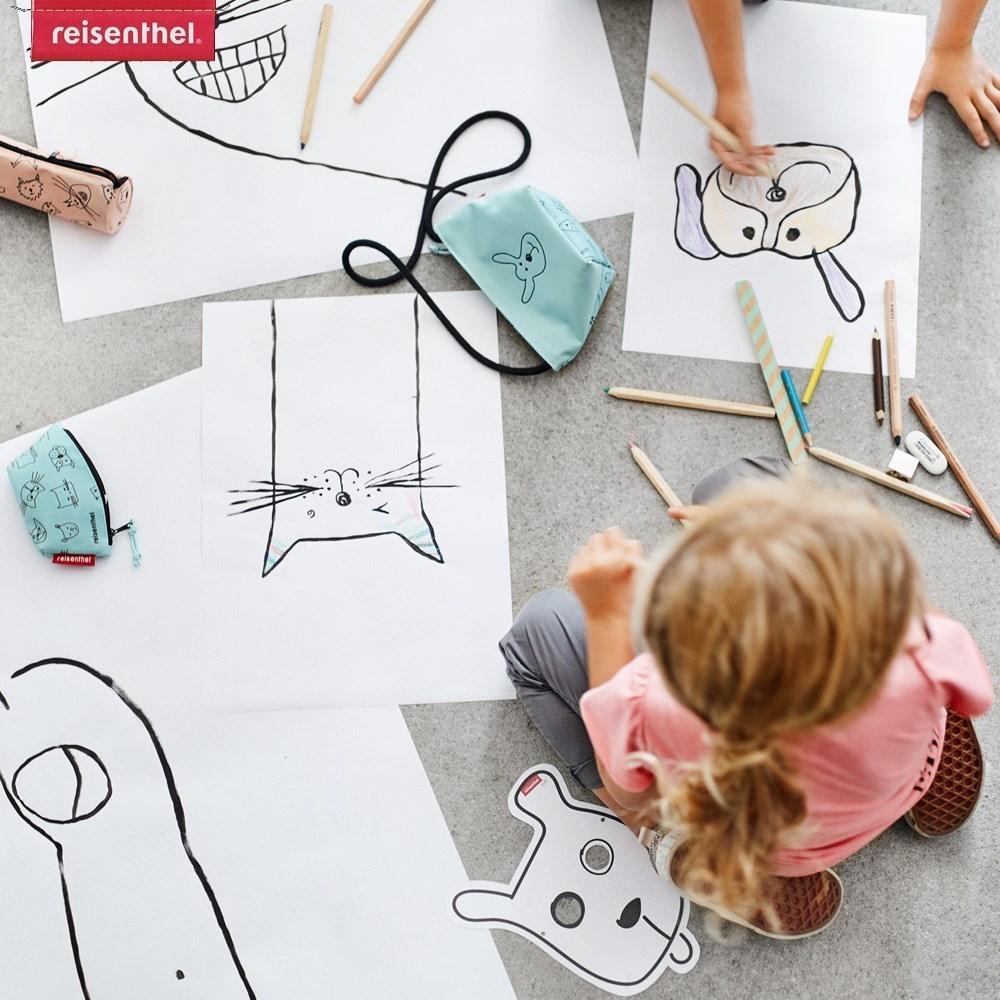 Obrázek z Dětská taštička přes rameno Minibag kids cats and dog rose