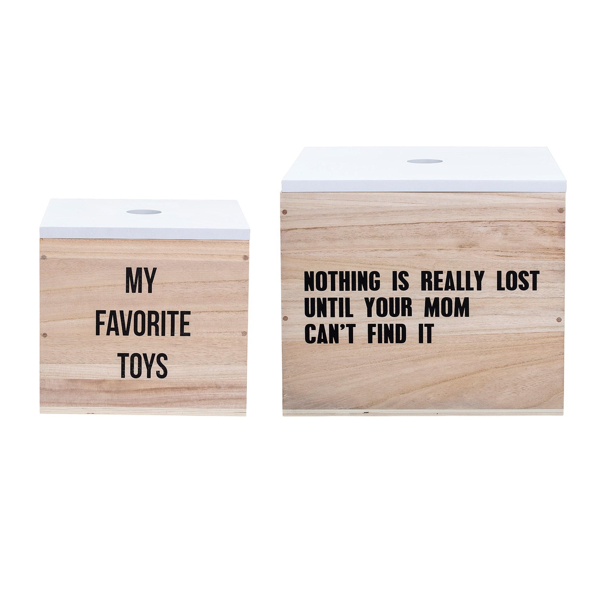 Úložné boxy s nápisem set 2 kusy_0
