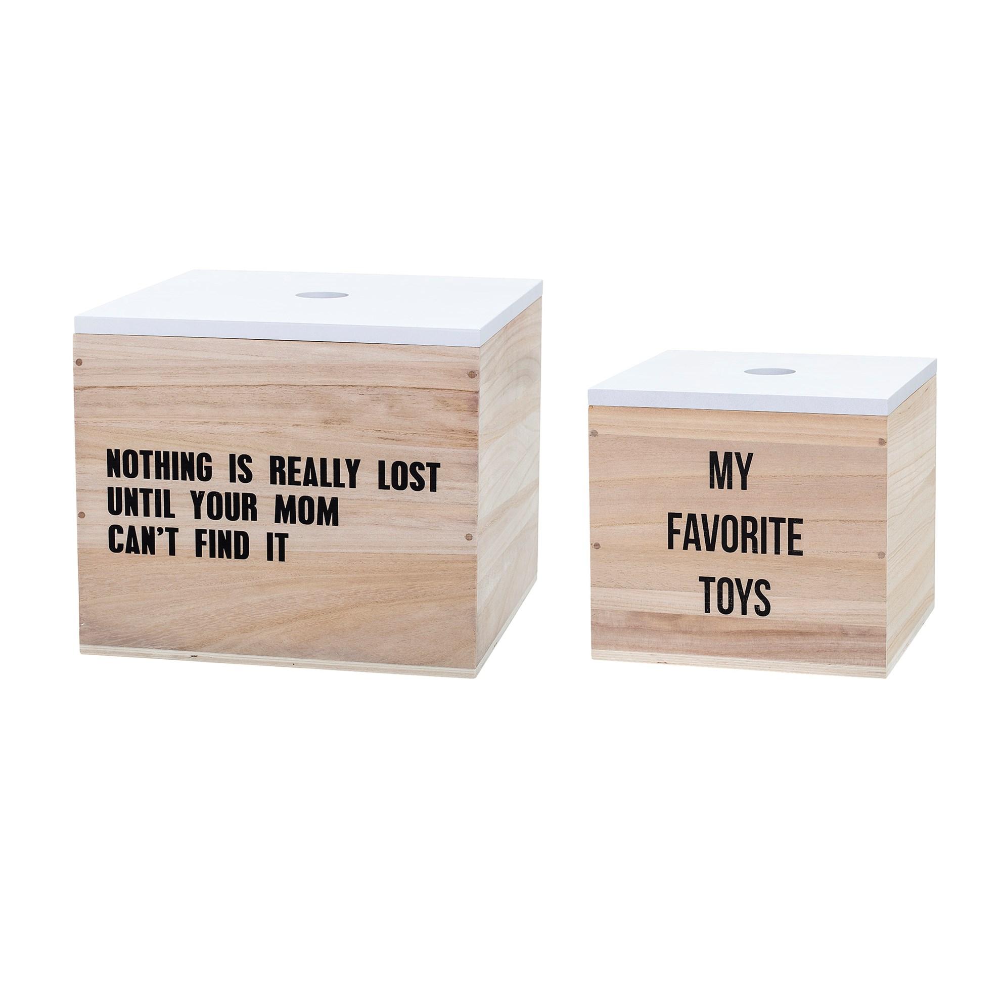 Úložné boxy s nápisem set 2 kusy_1