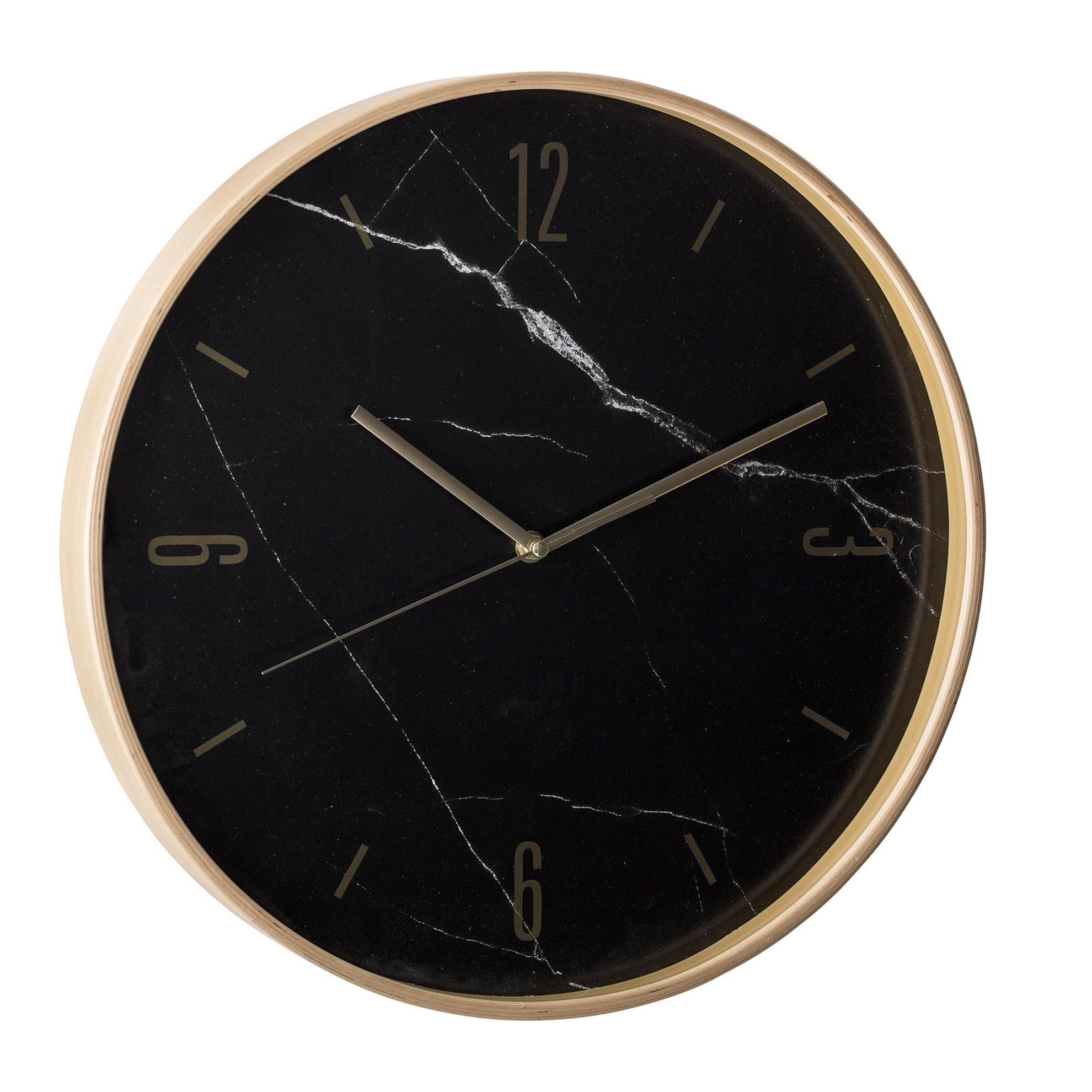 Nástěnné hodiny s mramorovým dekorem_0