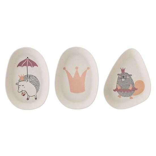 Bambusové talířky Princess set 3 kusy_1