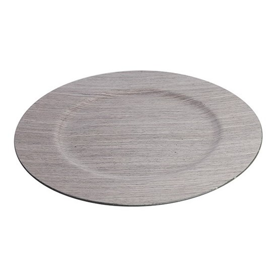 Dekorační talíř s imitací dřeva_0