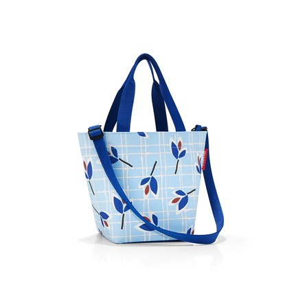 Taška / kabelka SHOPPER XS leaves blue_0