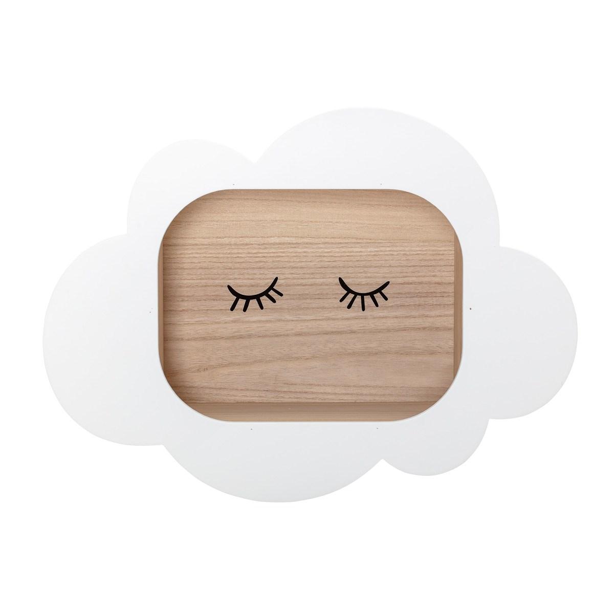 Dřevěná polička Cloud 50x37 cm_0