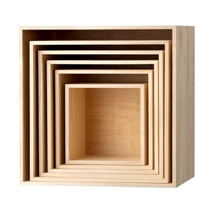 Dřevěné poličky, SET/6ks_1