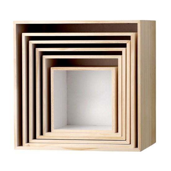 Dřevěné poličky, SET/6ks_0