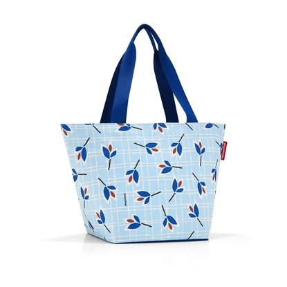 Nákupní taška SHOPPER M leaves blue_0