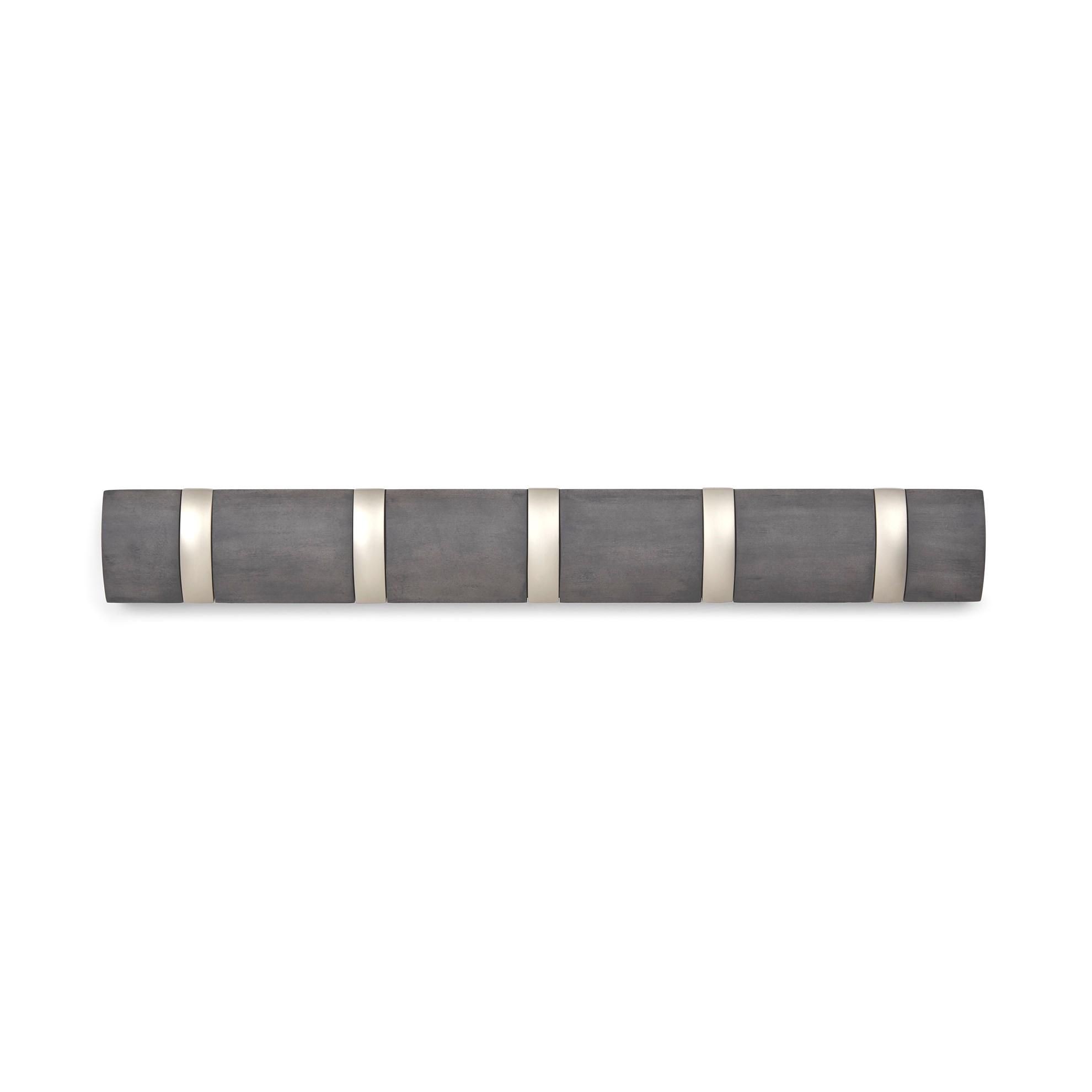Věšák na zeď FLIP 5 háčků šedý_1