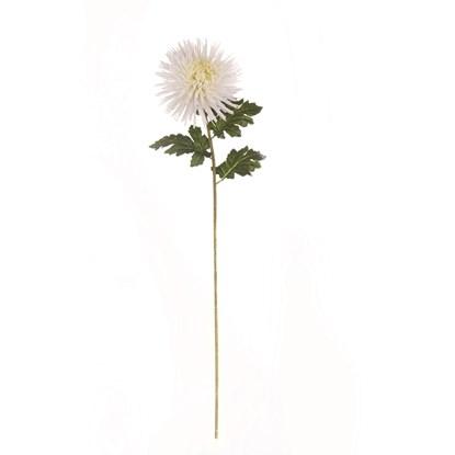 Větvička Chrysantheme 90 cm bílá_0