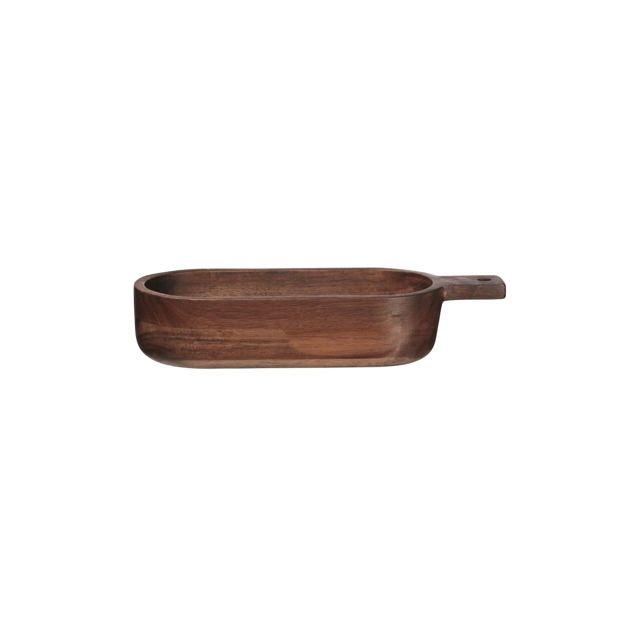 Dřevěná mísa s rukojetí WOOD 33 cm_1