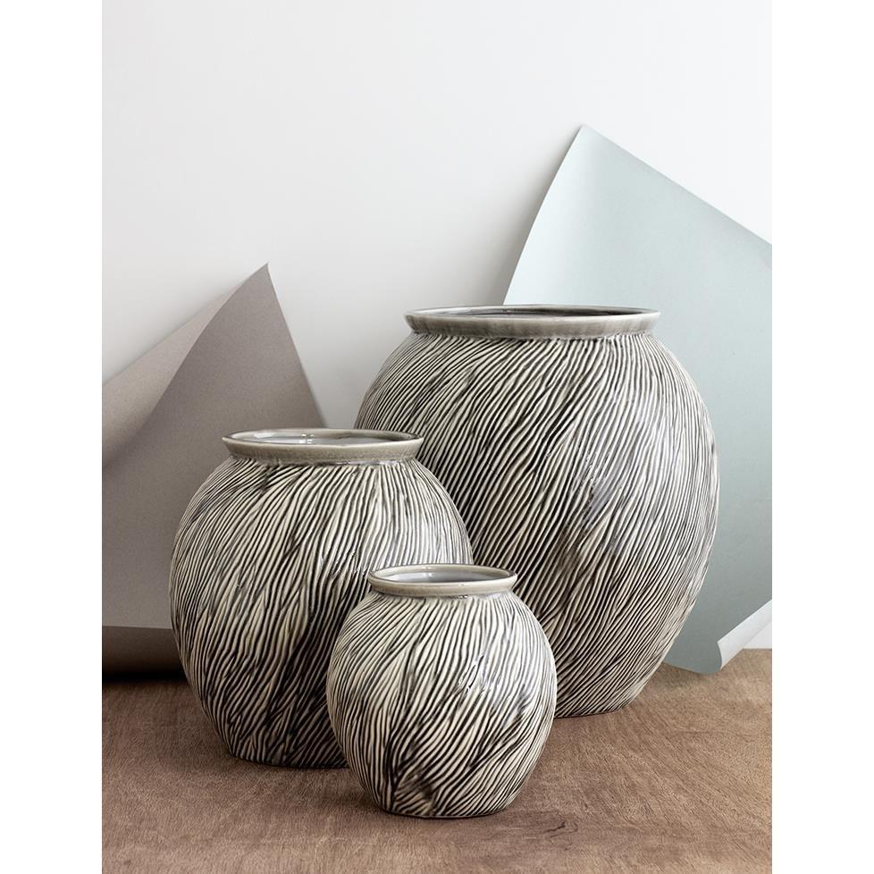 Váza SANDY 21 cm šedá_0