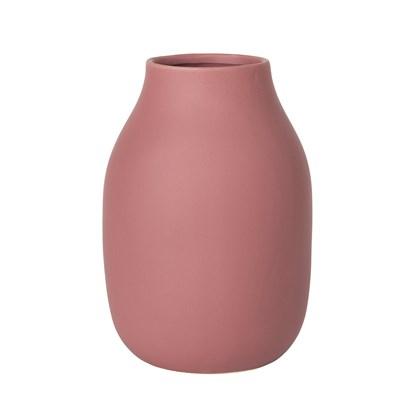 Váza COLORA 20 cm temně růžová_1