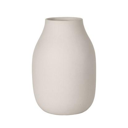 Váza COLORA 20 cm jemně béžová_1