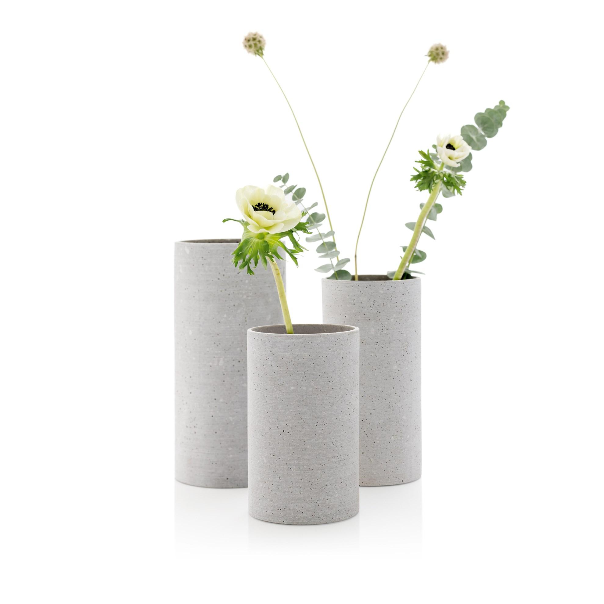 Váza COLUNA 20 cm světle šedá_0