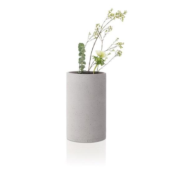 Váza COLUNA 20 cm světle šedá_1