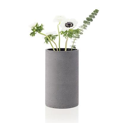 Váza COLUNA 20 cm tmavě šedá_1