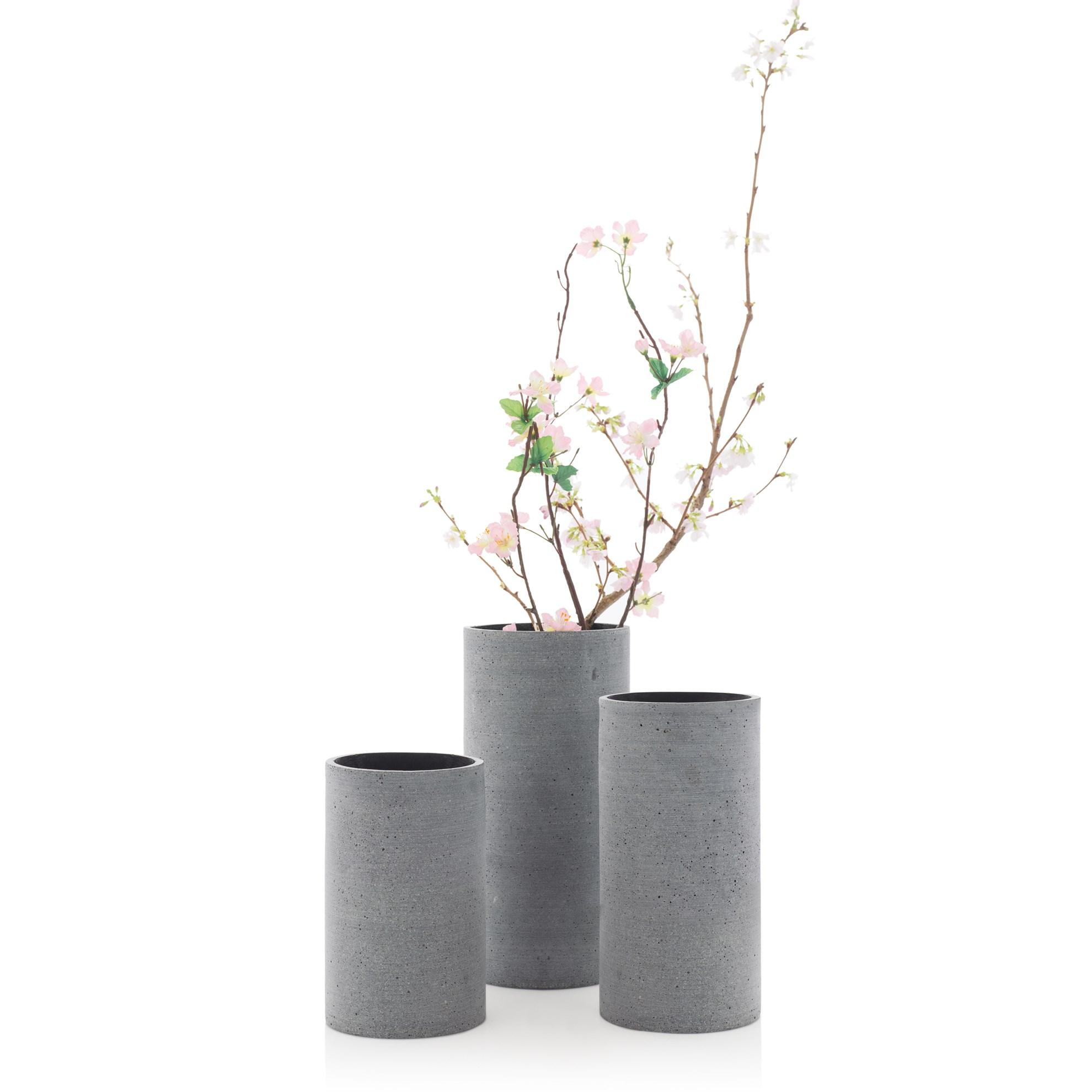 Váza COLUNA 29 cm tmavě šedá_0