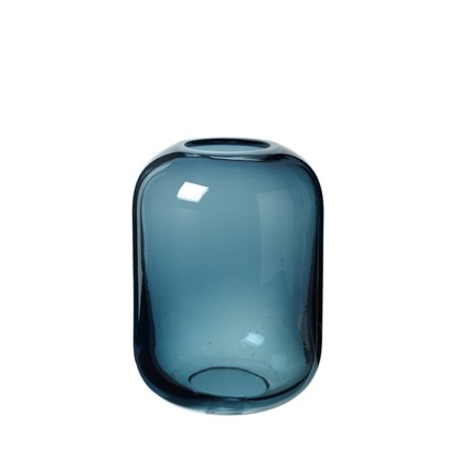 Skleněná váza OVALO 21,5 cm modrá_0