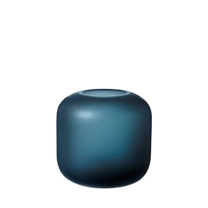 Skleněná váza OVALO 17 cm modrá mat_0