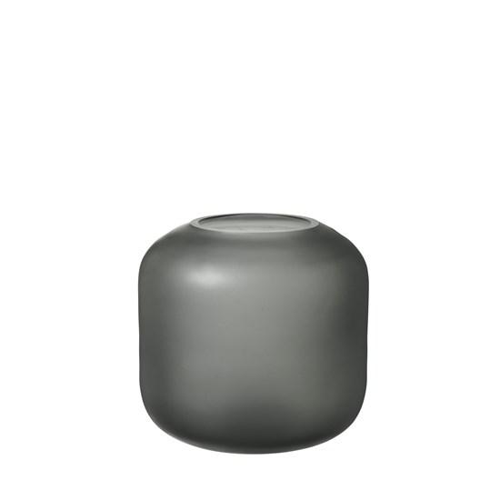 Skleněná váza OVALO 17 cm šedá mat_0