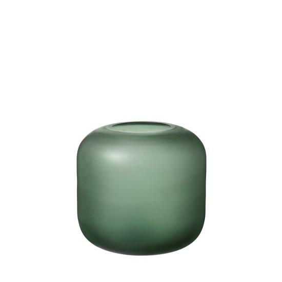 Skleněná váza OVALO 17 cm zelená mat_0