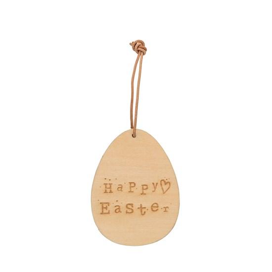 Závěsná dekorace vejce Happy Easter dřev_0