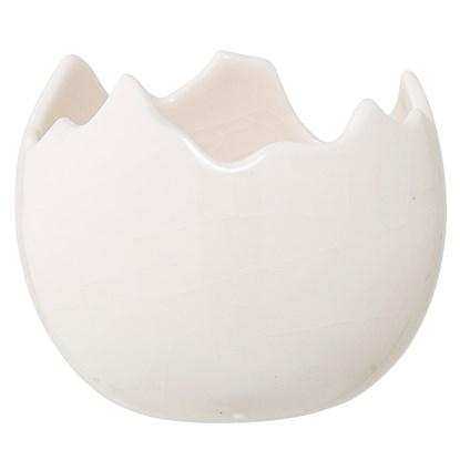 Svícen / květináč ve tvaru skořápky bílý_0