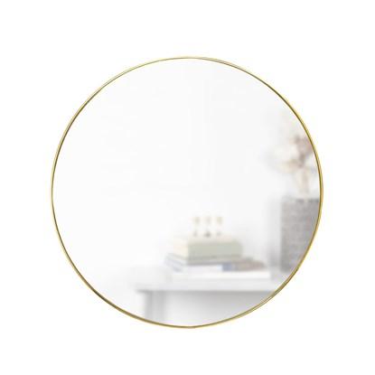Zrcadlo HUBBA 86.5 cm s mosazným lemem_3