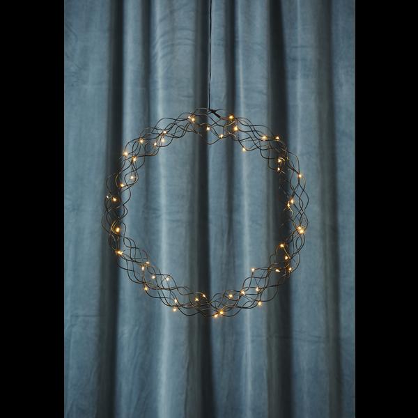 """Závěsný svítící LED věnec """"Curly"""" 48cm_1"""
